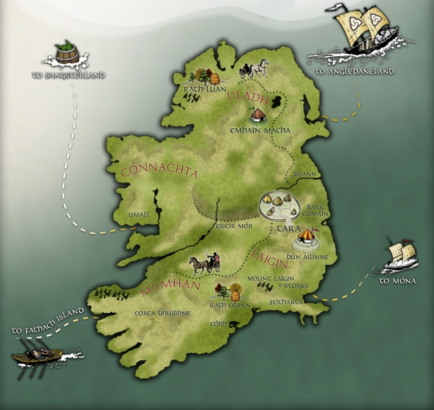 Ancient Irish map